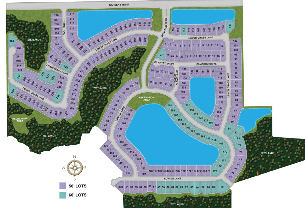 Highland Chase Site Map